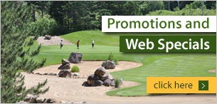Golf promotions and Web specials