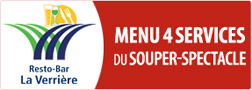 Menu 4 services du souper-spectacle