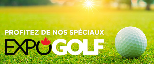 Take advantage of our promotions during the Expogolf